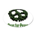 peaspeace10x10.png Oval Car Magnet