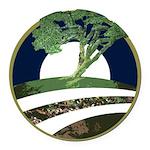 Obama Tree Round Car Magnet