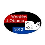 Wookies for Obama Oval Car Magnet