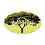 wetlandsareforthebirds.png Oval Car Magnet
