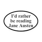 I'd Rather be Reading Jane Austen Car Magnet