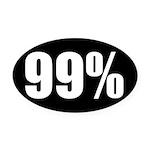 99 Percent Oval Car Magnet