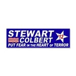 Stewart-Colbert 2012 and Terror Car Magnet