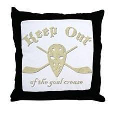 Hockey Goal Crease Throw Pillow
