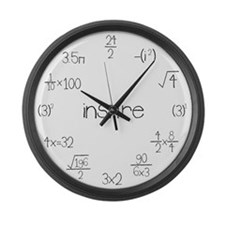 Large Wall Math Clock Large Wall Clock