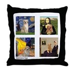 Famous Goldens (cl) Throw Pillow