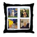 Famous Goldens (cl) Throw Pillow