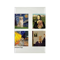 Famous Goldens (cl) Rectangle Magnet (100 pack)