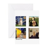 Famous Goldens (cl) Greeting Card