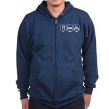 Eat Sleep Dive Wht.png Zip Hoodie