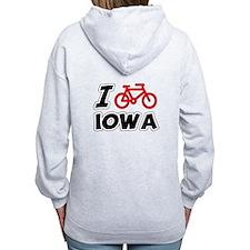 I Love Cycling Iowa Zip Hoodie