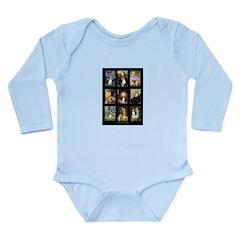 FamousArtBeagle Comp Long Sleeve Infant Bodysuit