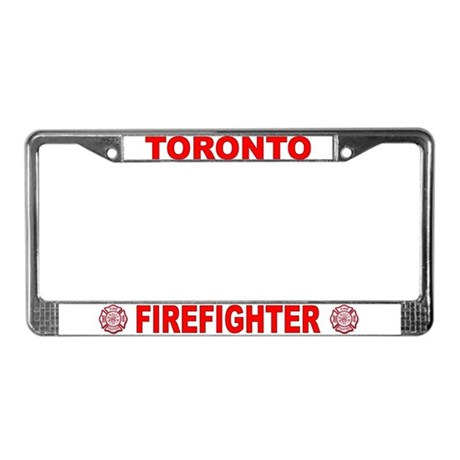 Toronto Firefighter License Plate Frame