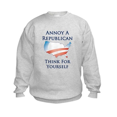 Annoy A Republican - Think - Kids Sweatshirt