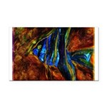 Angel Fish Rectangle Car Magnet