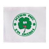 Kiss me I'm Irish Throw Blanket