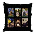 Famous Art Cocker Comp Throw Pillow