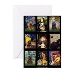 Famous Art Cocker Comp Greeting Cards (Pk of 10)