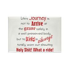 Lifes Journey Rectangle Magnet