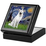Starry-White German Shepherd Keepsake Box