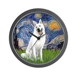 Starry-White German Shepherd Wall Clock