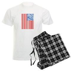 USA Bar Code Flag Men's Light Pajamas