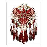 Native Cardinal Mandala Small Poster