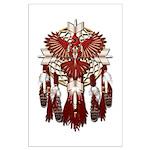 Native Cardinal Mandala Large Poster