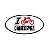 I Love Cycling California Patches