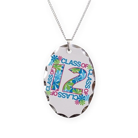 Class 2012 Blossoms Necklace Oval Charm