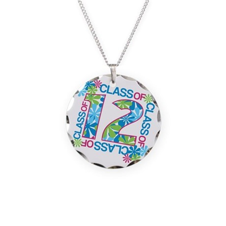 Class 2012 Blossoms Necklace Circle Charm
