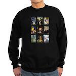 FamousArtSchnauzers (clr) Sweatshirt (dark)