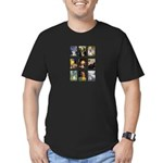 FamousArtSchnauzers (clr) Men's Fitted T-Shirt (da