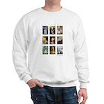 FamousArtSchnauzers (clr) Sweatshirt