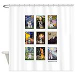 FamousArtSchnauzers (clr) Shower Curtain