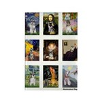 FamousArtSchnauzers (clr) Rectangle Magnet (100 pa