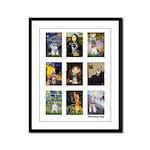 FamousArtSchnauzers (clr) Framed Panel Print