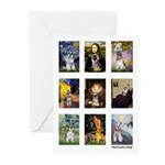 FamousArtSchnauzers (clr) Greeting Cards (Pk of 20