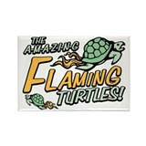 Amazing Flaming Turtles Rectangle Magnet