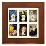 Famous Art Bichon (clr) Framed Tile