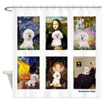 Famous Art Bichon (clr) Shower Curtain