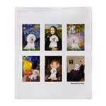 Famous Art Bichon (clr) Throw Blanket