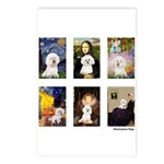 Famous Art Bichon (clr) Postcards (Package of 8)