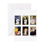 Famous Art Bichon (clr) Greeting Card