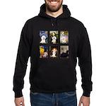 Famous Art Bichon (clr) Hoodie (dark)