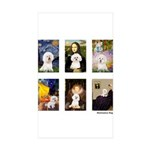 Famous Art Bichon (clr) Sticker (Rectangle 10 pk)