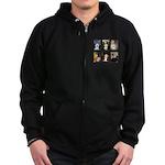 Famous Art Bichon (clr) Zip Hoodie (dark)