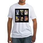 FamourArtSchnauzers 1 Fitted T-Shirt