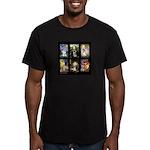 FamourArtSchnauzers 1 Men's Fitted T-Shirt (dark)