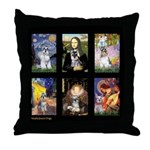 FamourArtSchnauzers 1 Throw Pillow
